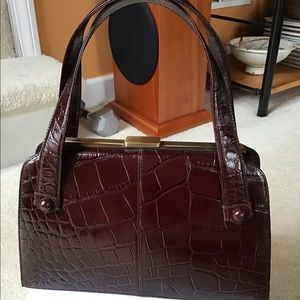 High End Vintage NORDSTROM Moc Croc Handbag